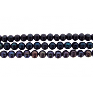 Freshwater Pearl Beads 6mm - 8mm, Black