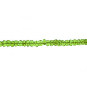 Peridot Faceted Beads, 5 - 7 mm