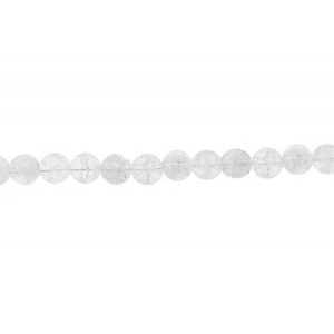 Cracked Crystal Round Beads, 12 mm