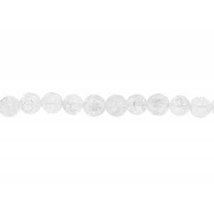 Cracked Crystal Round  Beads, 14 mm