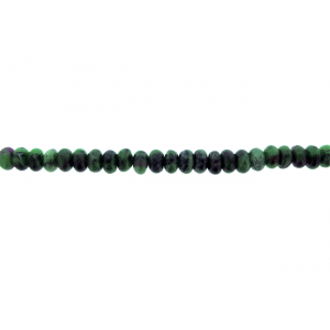 Zoisite Ruby ( Anyolite ) Rondelle Beads