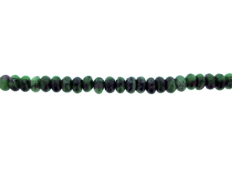 Zoisite Ruby ( Anyolite ) Rondelle Beads Anyolite (Zoisite Ruby)