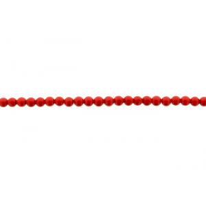 Coral Pressed Round Beads, 4 - 6 mm