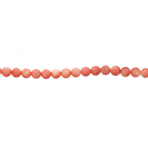 Coral Sea Bamboo Dyed Round Beads, 7 - 8 mm