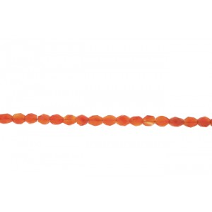 Carnelian Oval Faceted Beads