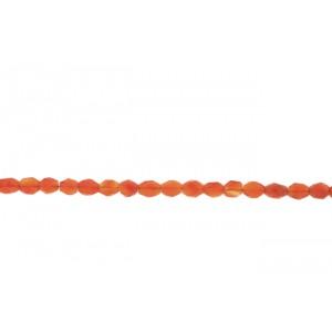 Carnelian Oval Faceted Beads Carnelian Beads