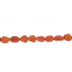 Carnelian Tumble Round Beads