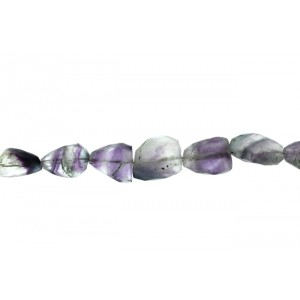 Fluorite Tumble Faceted Beads