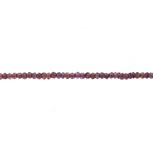 Garnet Faceted Beads, Special Cut 3mm