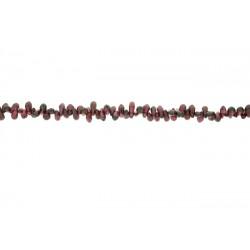 Garnet Drops Side Drilled Beads