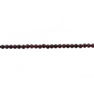 Garnet Round Beads, 4 mm