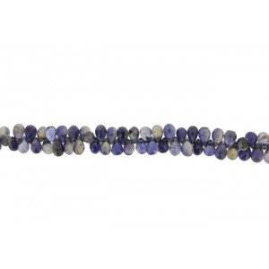 Iolite Badamche / Drops Faceted Choker 9'' Beads