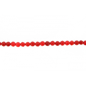 Jade Red Dyed Faceted Beads, 4 mm