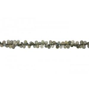 Labradorite Badamche / Drops Faceted Choker Beads Labradorite Beads