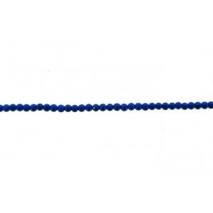 Lapis Pressed Round Beads, 2 mm