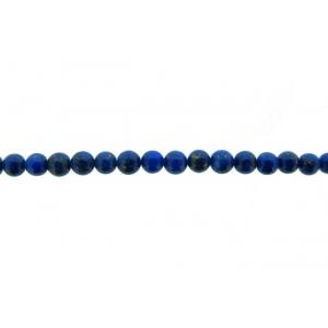 Lapis Round Beads, 4 mm