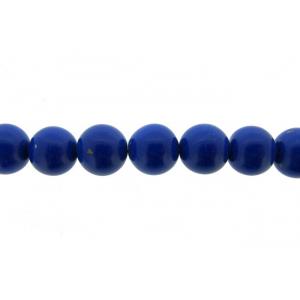 Lapis Pressed Beads, 10 - 12 mm