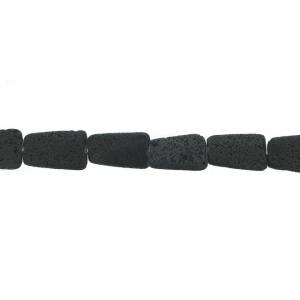 Lava Black Large Rectangle Beads 30mm x 40mm