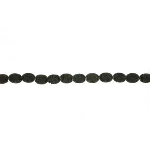 Lava Black Oval Beads, 8 x 10 mm