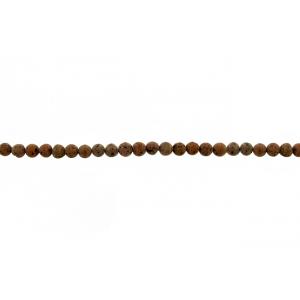 Lava Red Round Beads, 8 mm