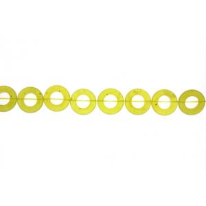 Olive Jade Donut Beads