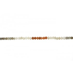 Moonstone Multi Color Button Beads