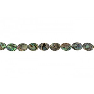 MOP Coin Oval Beads, Abalone  Mother of Pearl Beads (MOP)