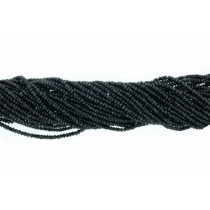 Onyx Black Faceted Beads,  4 - 5 mm