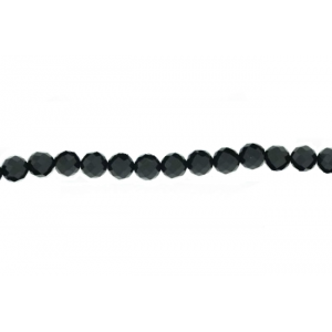 Onyx Black Faceted Beads, 6 mm