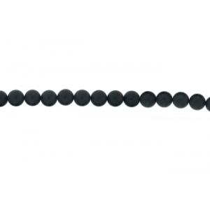 Onyx Black Round  Beads, Matt, 8 mm