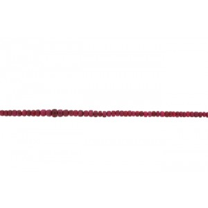 Ruby Faceted Beads approx. 3.5mm, Medium Quality