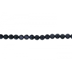 Sandstone Blue Faceted Beads, 10 mm Goldstone Beads