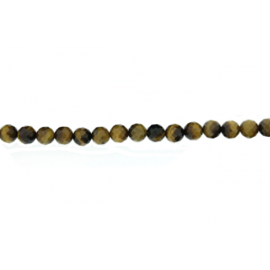 Tiger Stone Faceted Beads, 12 mm