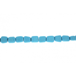 Turquoise Pressed Tumble Beads
