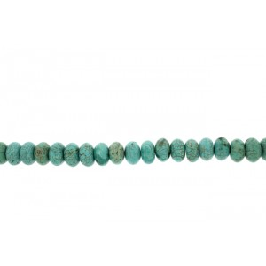 Turquoise Pressed Bati Beads, 14 mm  Turquoise Beads
