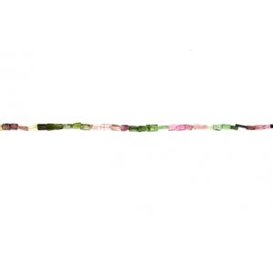 Tourmaline Square Beads, Multi Color