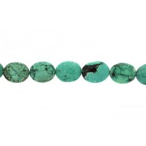 Turquise Oval Tumble Medium Beads.