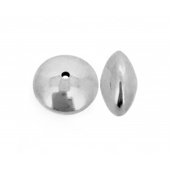Sterling Silver 925 Saucer beads 14mm