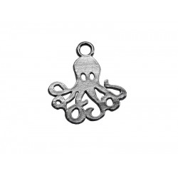 925 Sterling Silver Octopus Charm
