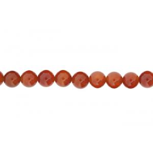 Carnelian Round Beads, 8 mm