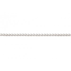 Sterling Silver 925 Fine Curb Chain, 0.45 x 0.8 mm Curb