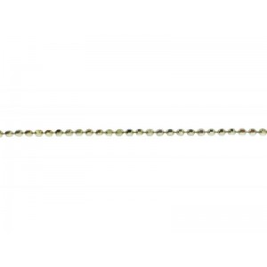 Sterling Silver 925 Diamond Ball Chain, 1.2 mm