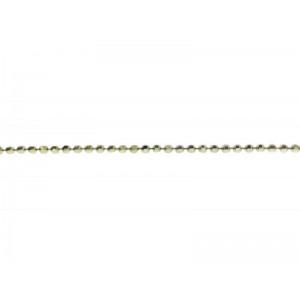 Sterling Silver 925 Diamond Ball Chain, 1.2 mm Ball