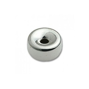 Sterling Silver 925 Flat Bead, 2.5mm SILVER BEADS