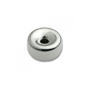 Sterling Silver 925 Flat Bead, 2.5mm