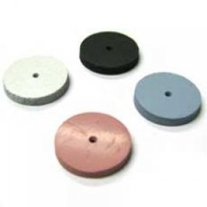 "Extra fine flat edge silicon carbide wheel, 5/8"", pink"