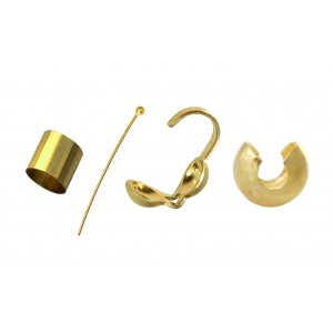 Gold Filled Head Pins, Crimps, Crimp Covers, Wire Protectors etc