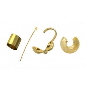 Gold Filled Head Pins, Crimps, Crimp Covers, Wire Protectors etc