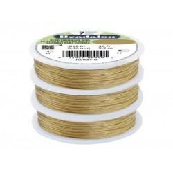 7 Strand Bead Stringing Wire, .018 in (0.46 mm), Gold Color, 30 ft (9.2 m)