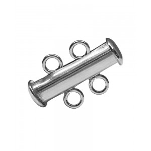 Sterling Silver 925 2 Strand Tube Clasp Silver Locks, Clasps, Toggles